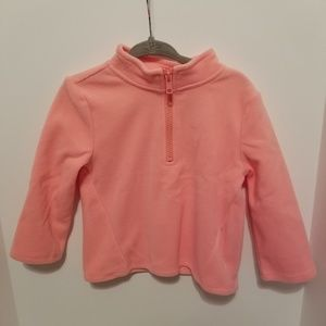🆕 Gymboree Coral Half Zip Fleece Pullover 18-24M